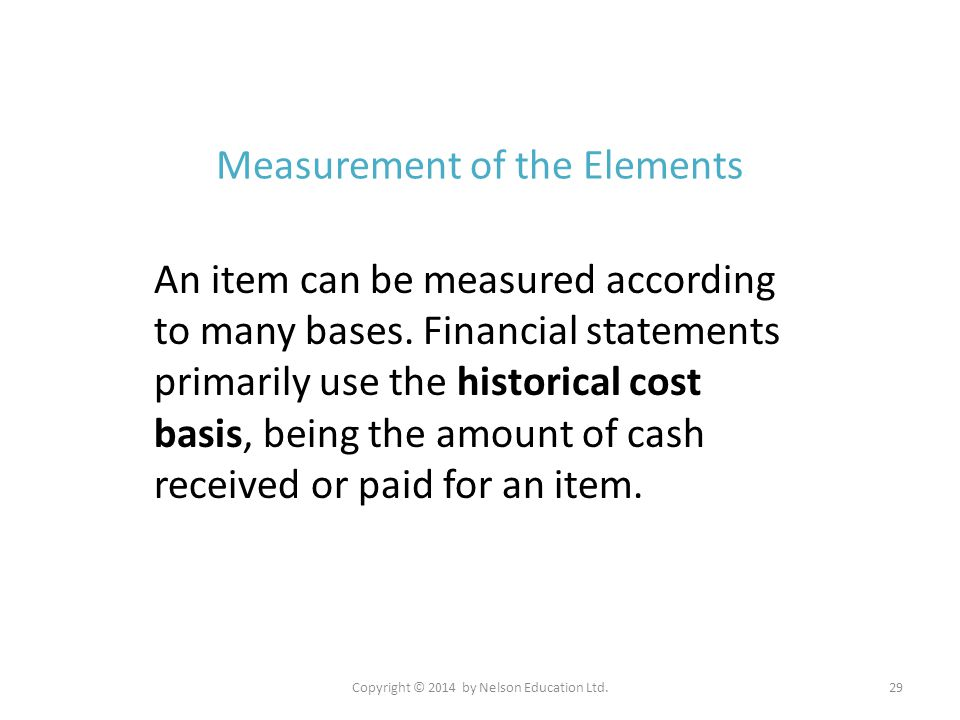 Measurement of the Elements