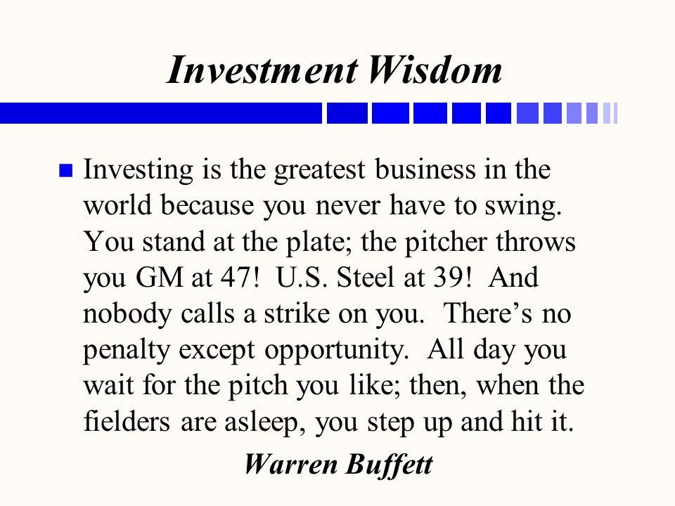 Investment Wisdom