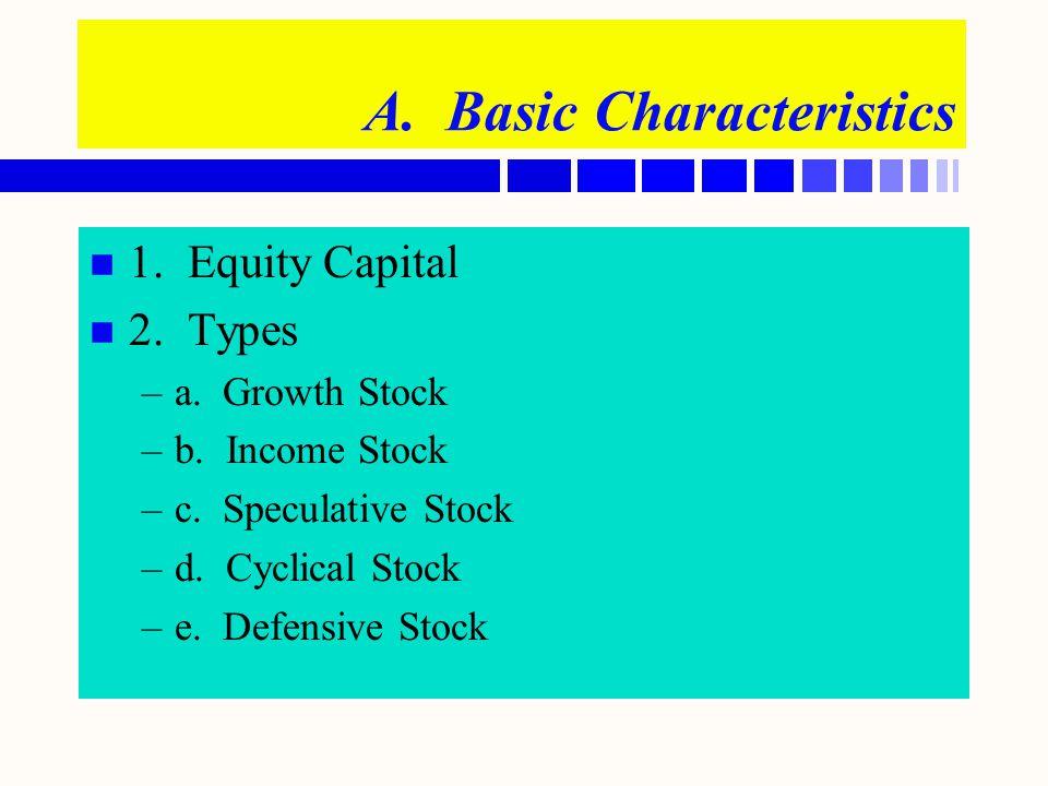 A. Basic Characteristics