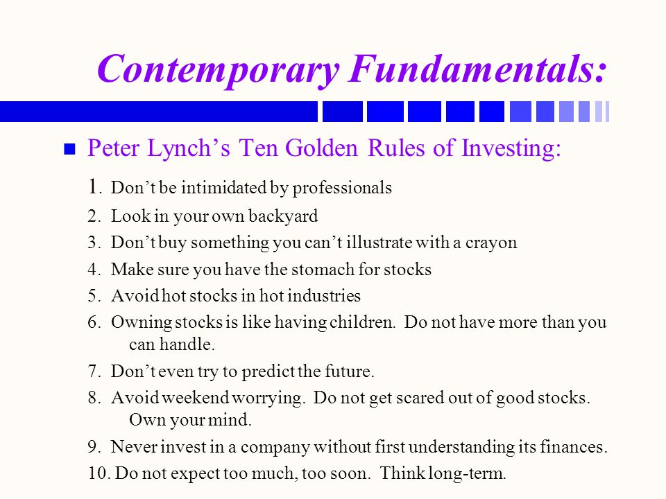 Contemporary Fundamentals: