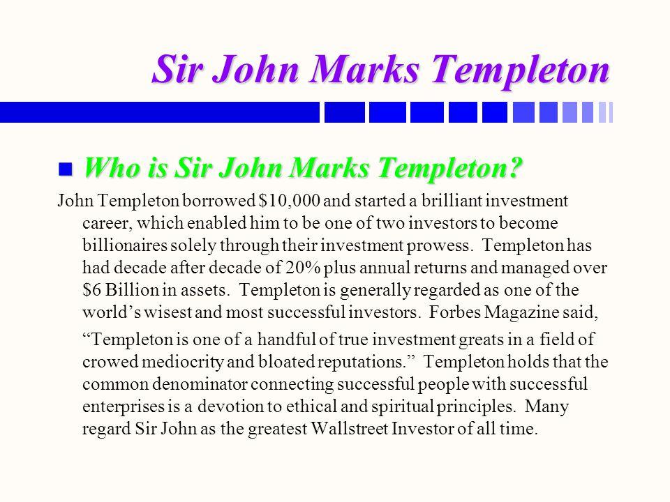 Sir John Marks Templeton