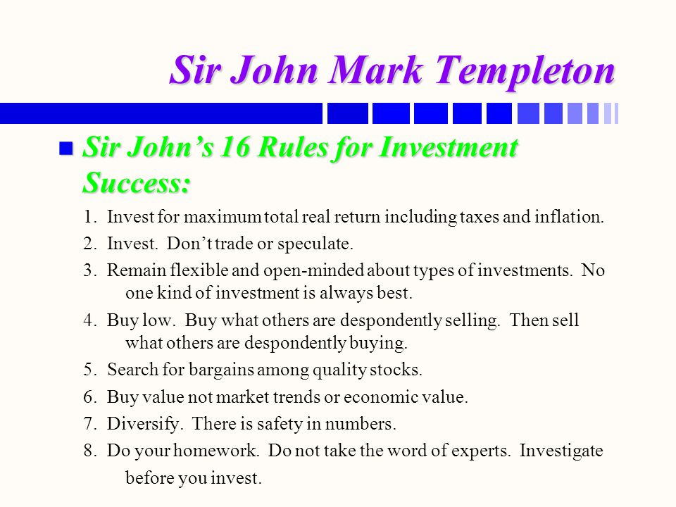 Sir John Mark Templeton