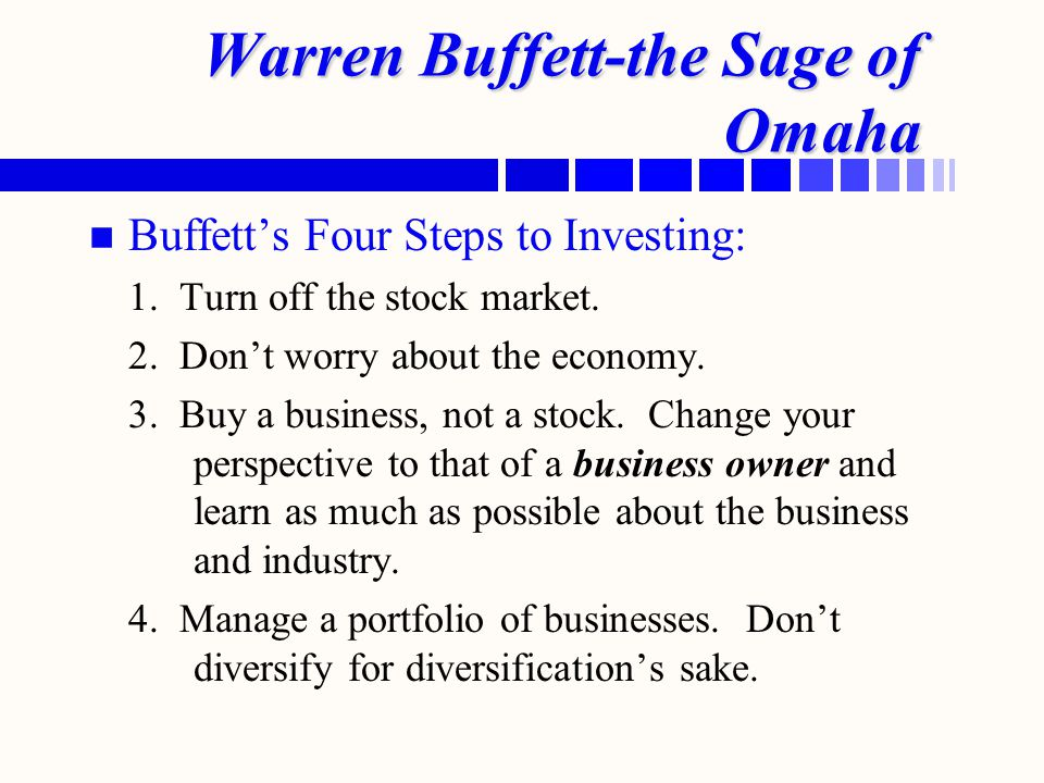 Warren Buffett-the Sage of Omaha
