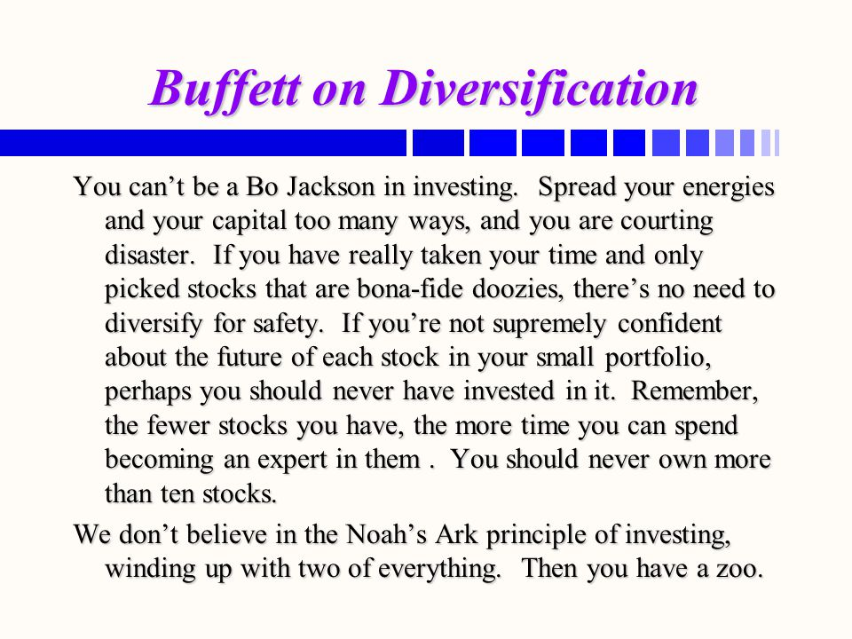Buffett on Diversification