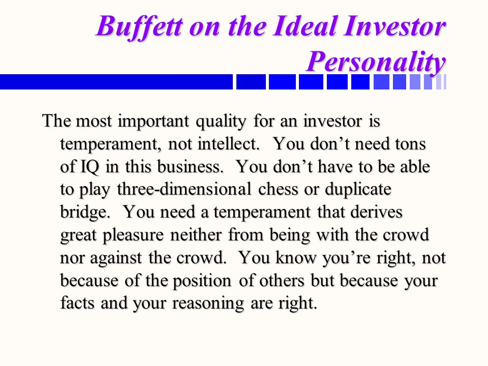 Buffett on the Ideal Investor Personality