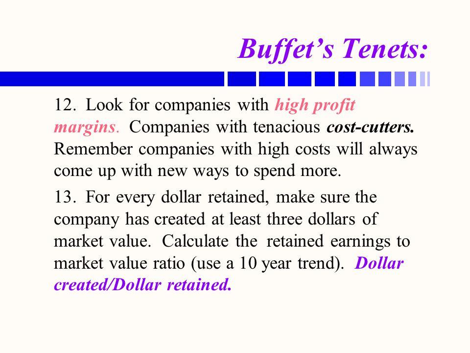 Buffet's Tenets: