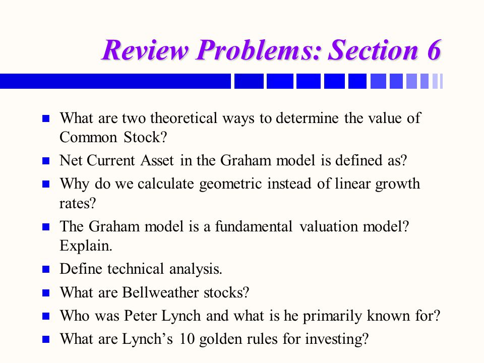 Review Problems: Section 6