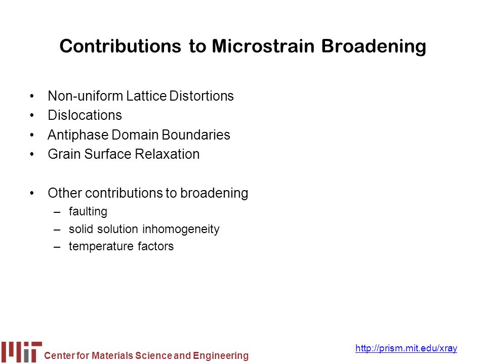Contributions to Microstrain Broadening