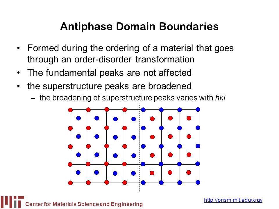 Antiphase Domain Boundaries