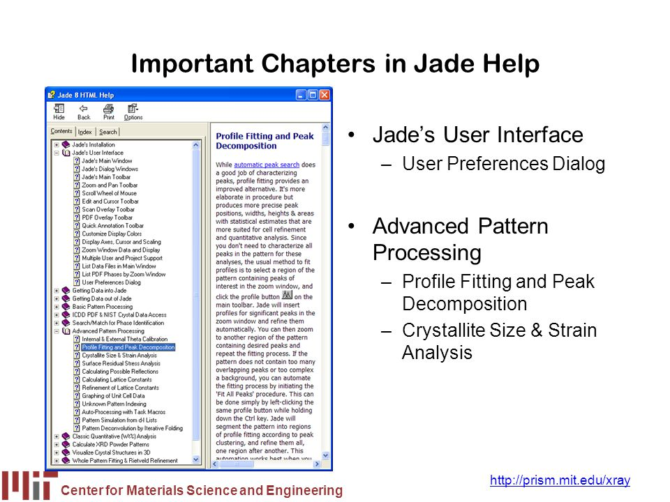 Important Chapters in Jade Help