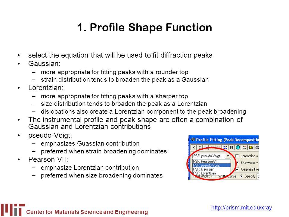1. Profile Shape Function