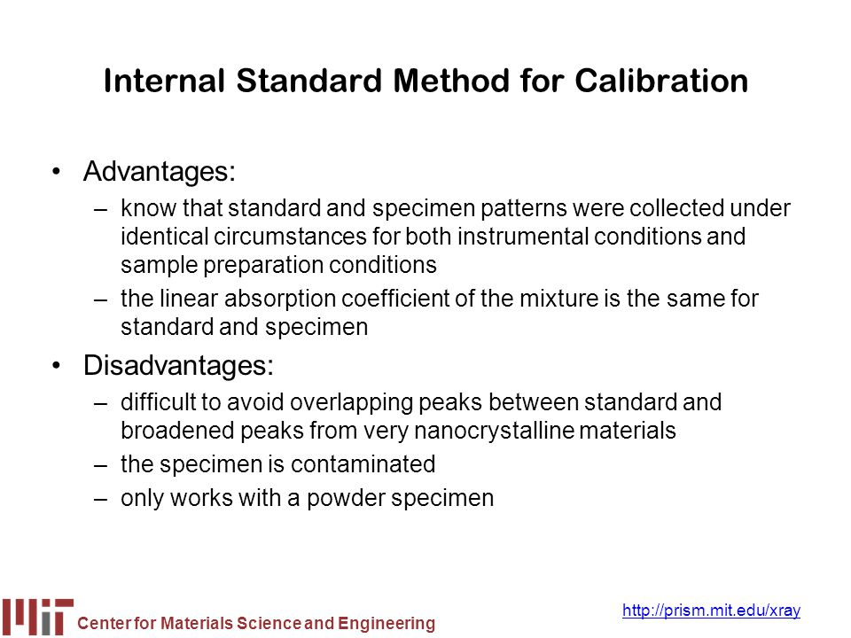 Internal Standard Method for Calibration