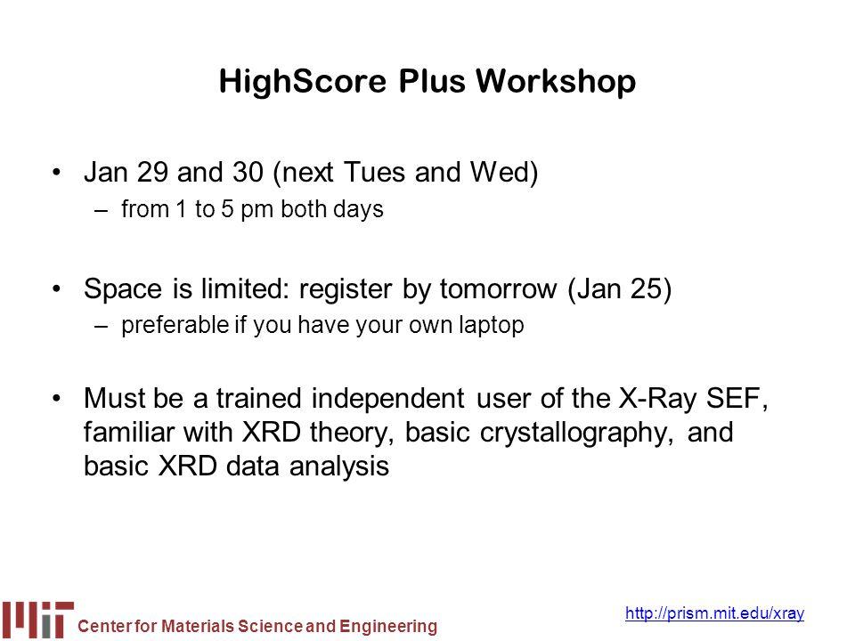 HighScore Plus Workshop