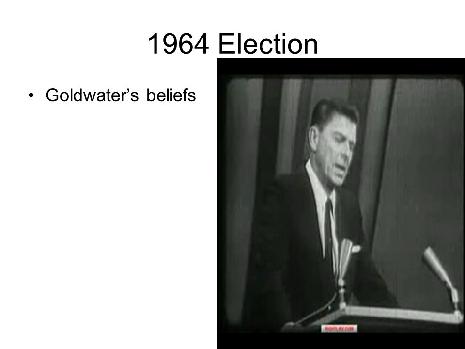 1964 Election Goldwater's beliefs