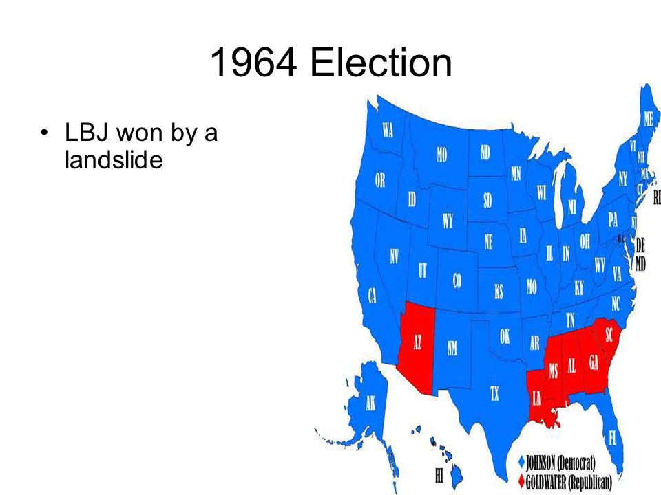 1964 Election LBJ won by a landslide