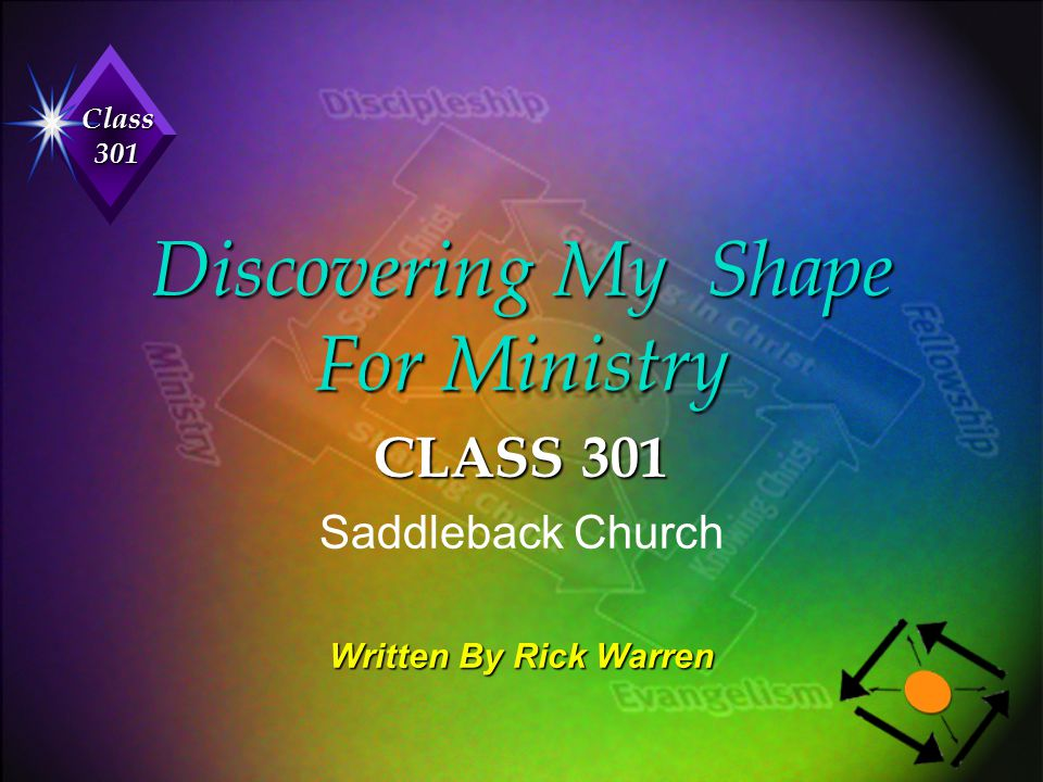 Discovering My Shape For Ministry
