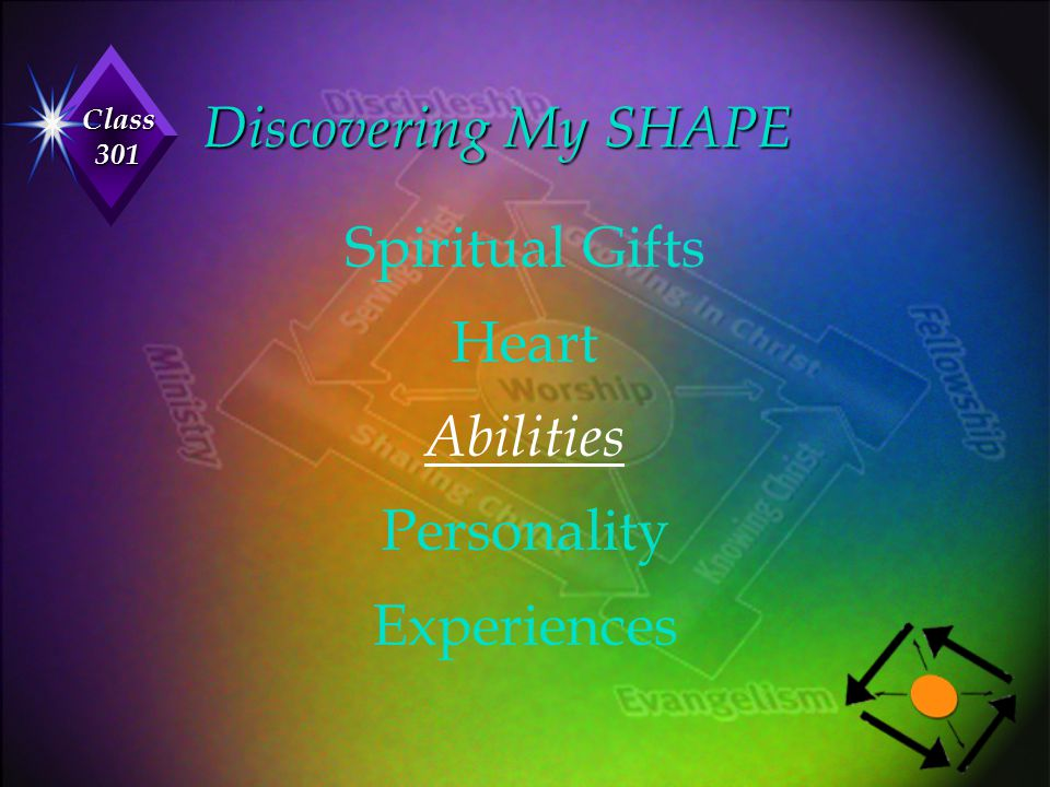 Discovering My SHAPE Spiritual Gifts Heart Abilities Personality Experiences