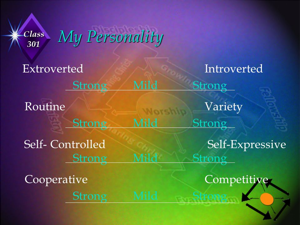 My Personality Strong Mild Strong Routine Variety