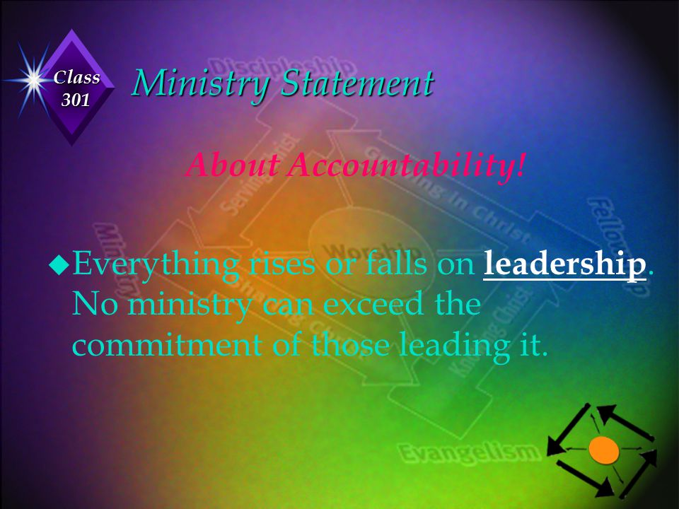 Ministry Statement About Accountability!