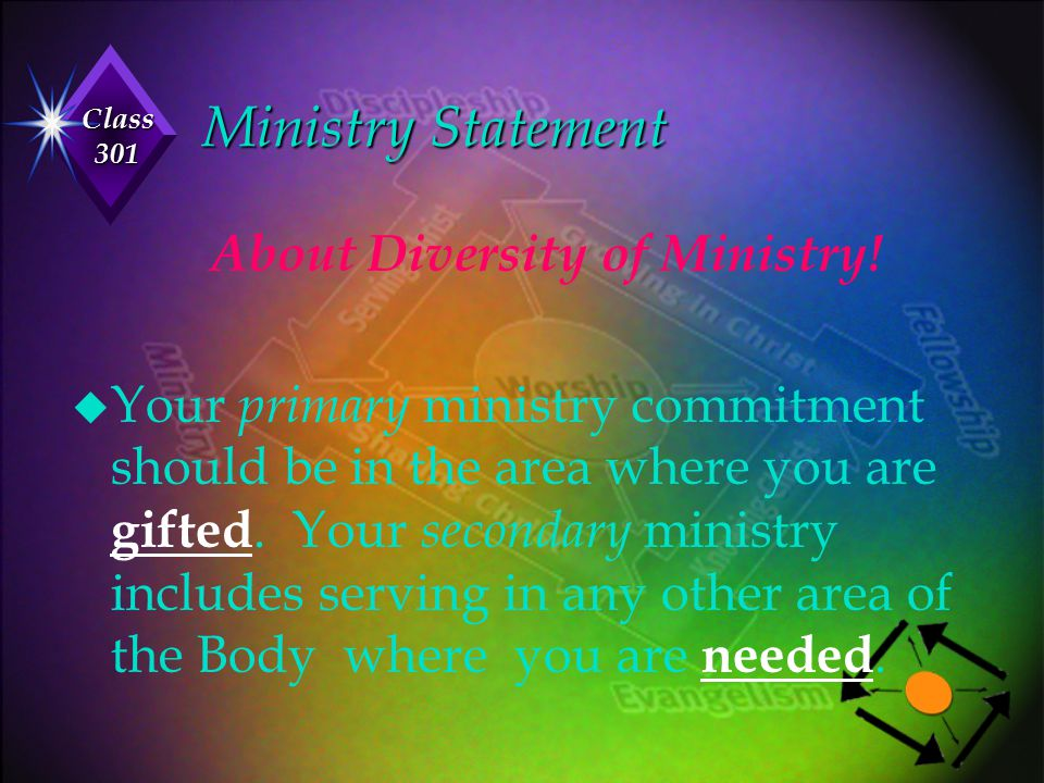 About Diversity of Ministry!