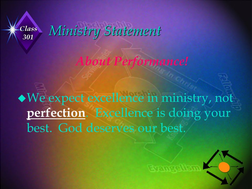Ministry Statement About Performance!