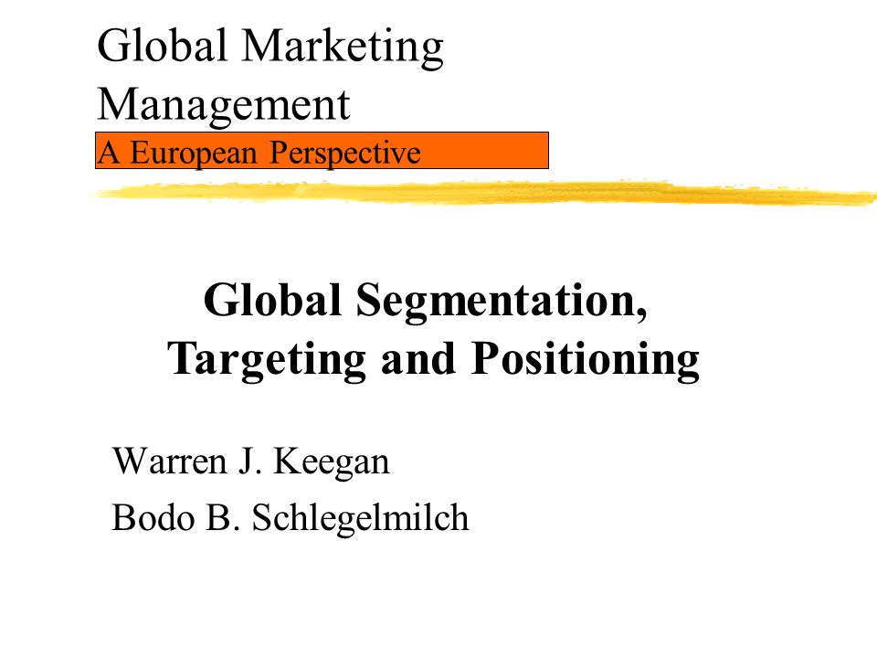 Global Marketing Management A European Perspective