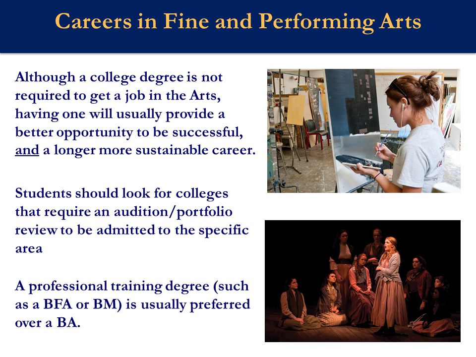 Careers in Fine and Performing Arts
