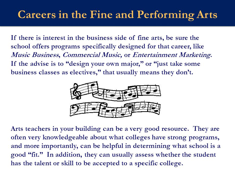 Careers in the Fine and Performing Arts