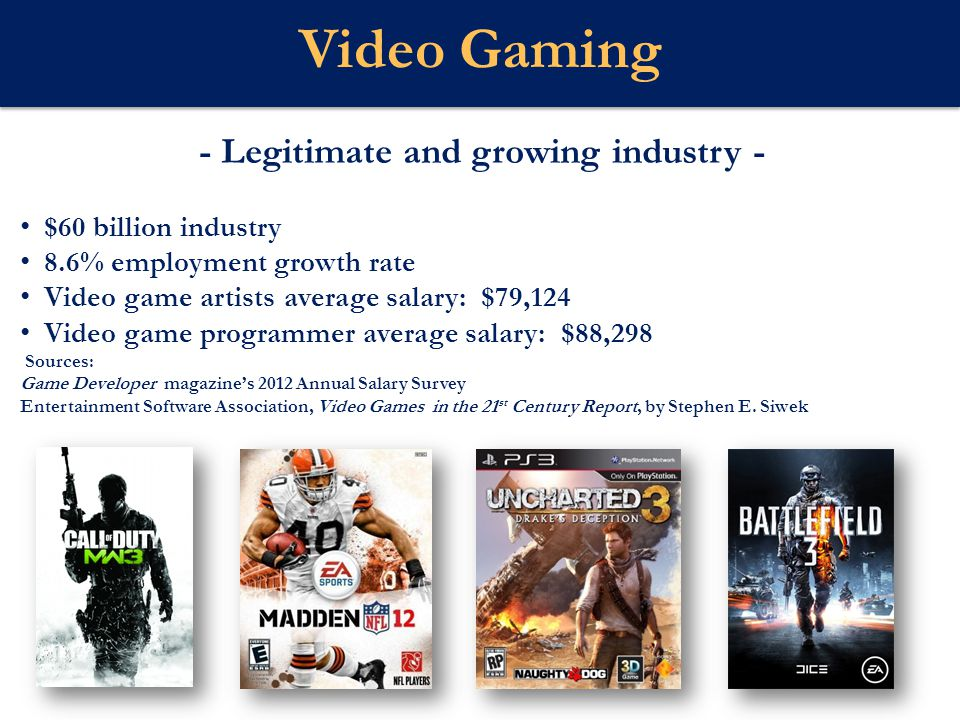 - Legitimate and growing industry -