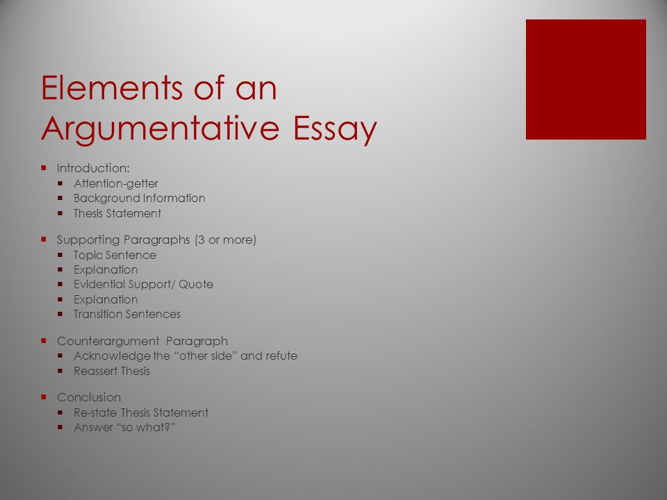 argumentative essay outline refutation