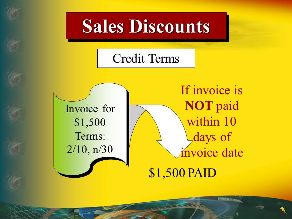 If invoice is NOT paid within 10 days of invoice date