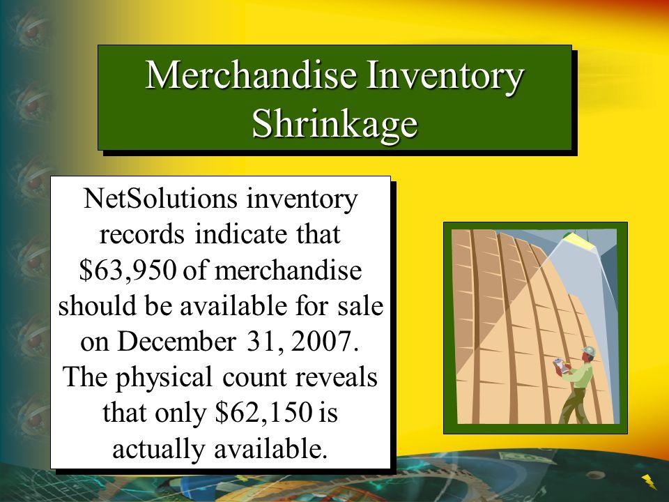 Merchandise Inventory Shrinkage