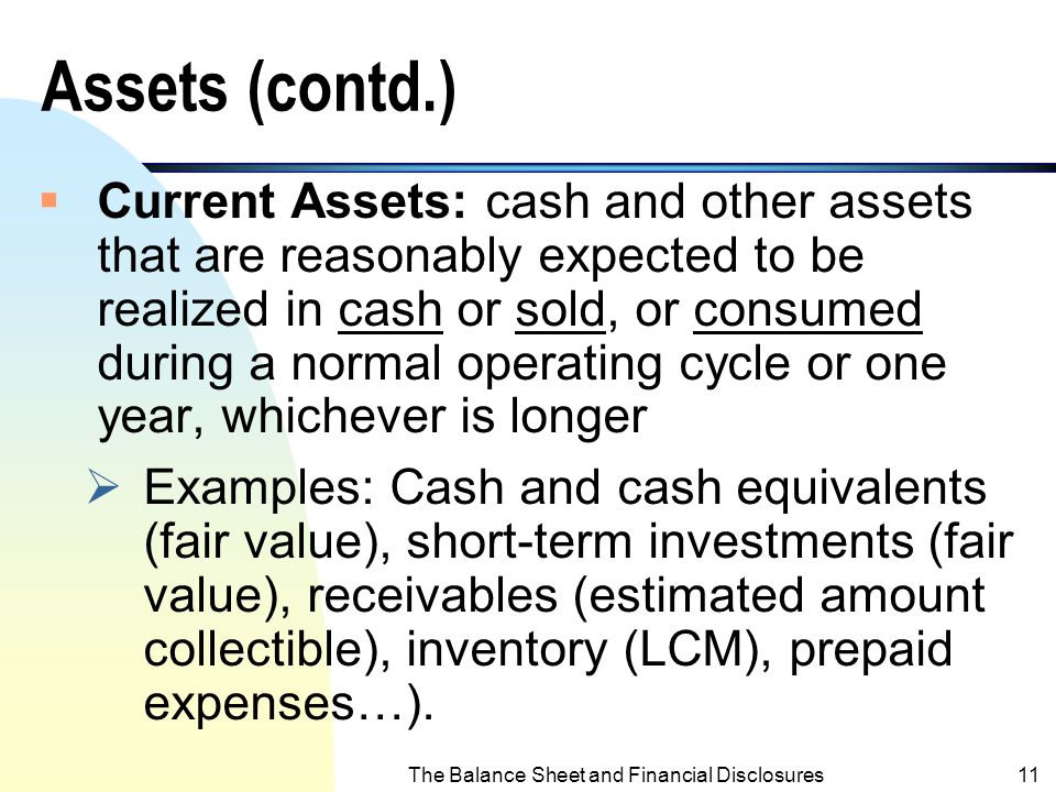 The Balance Sheet and Financial Disclosures