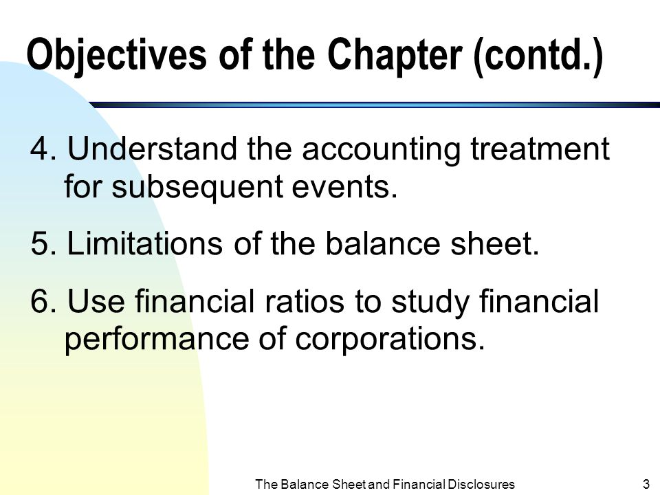 Objectives of the Chapter (contd.)