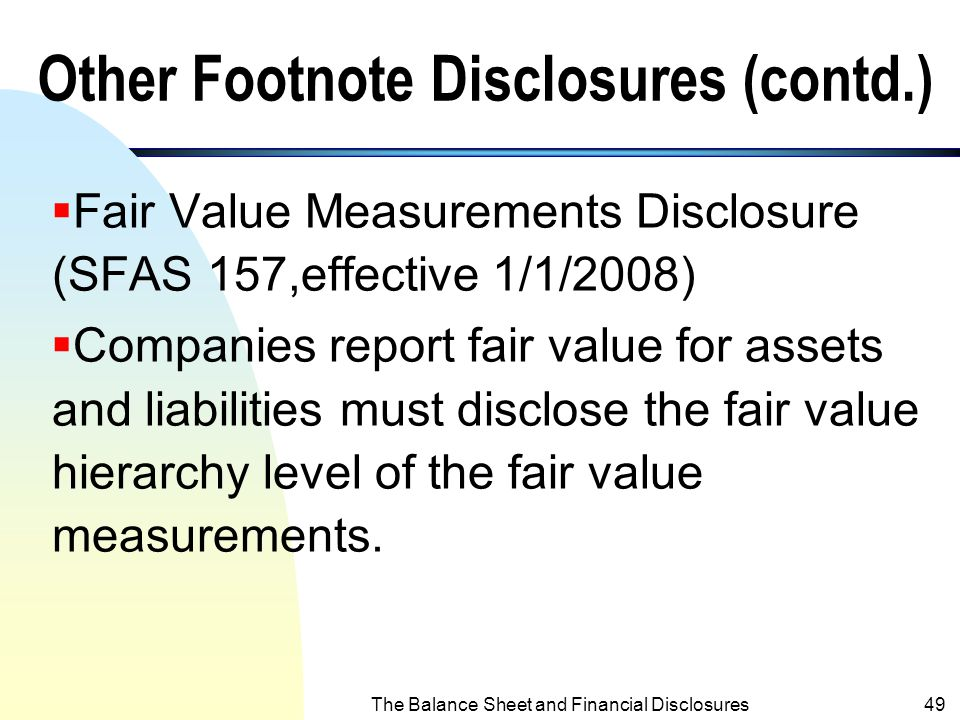 Other Footnote Disclosures (contd.)