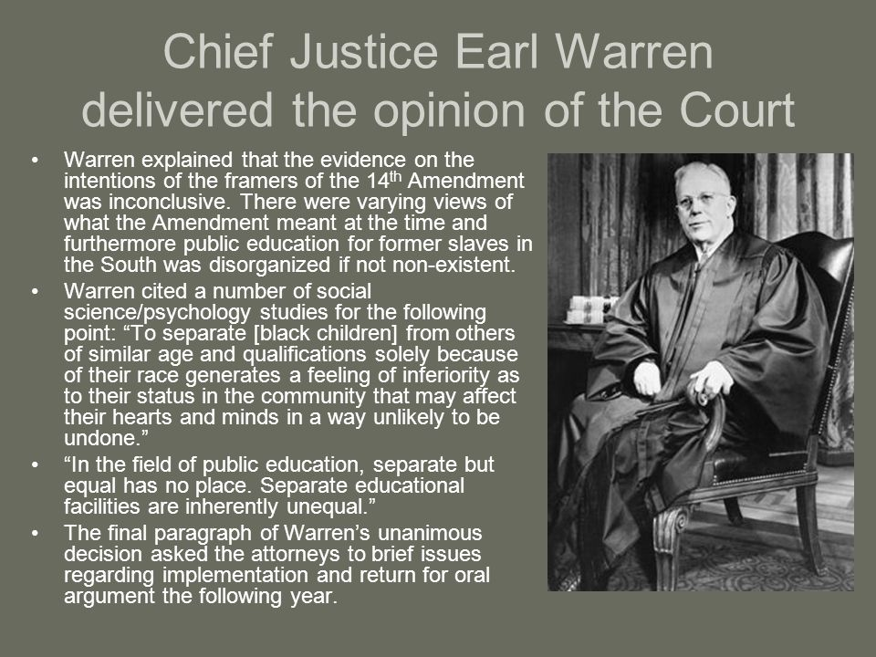 Chief Justice Earl Warren delivered the opinion of the Court