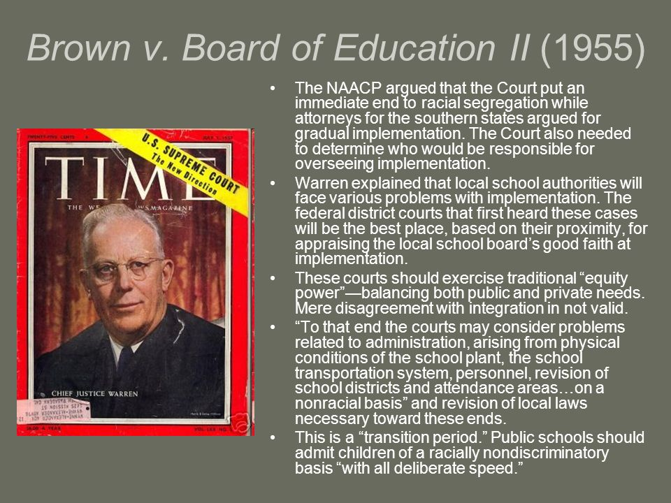 Brown v. Board of Education II (1955)