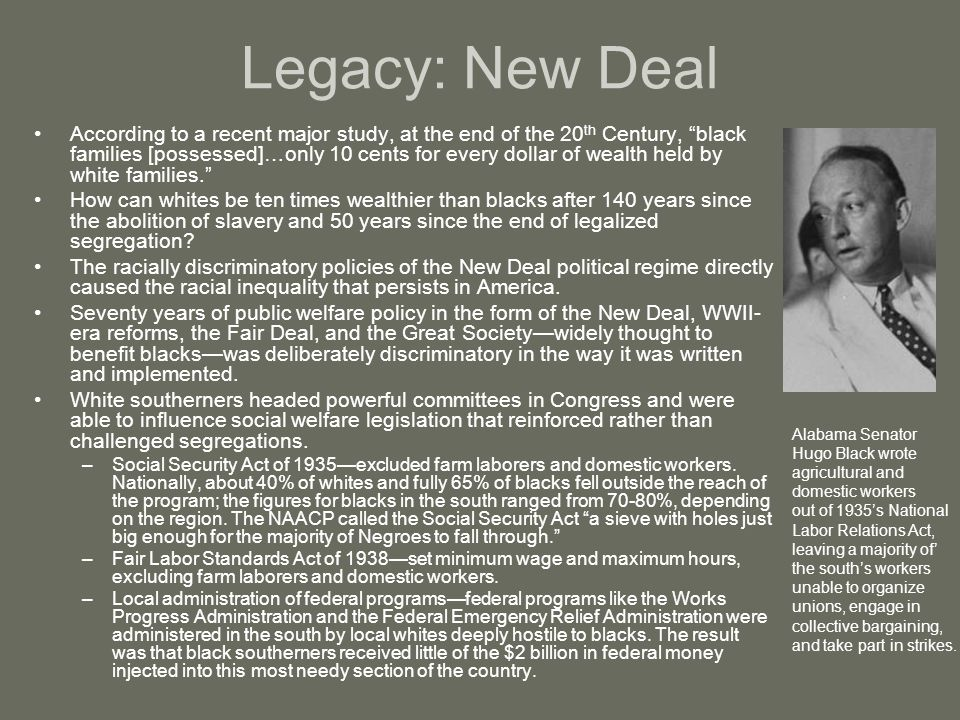 Legacy: New Deal