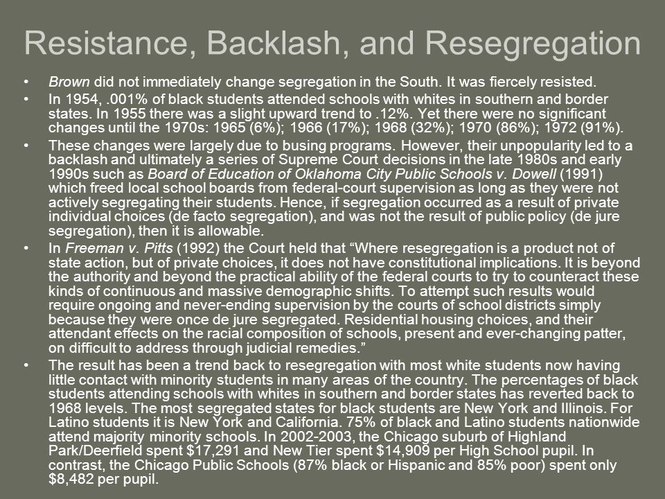 Resistance, Backlash, and Resegregation