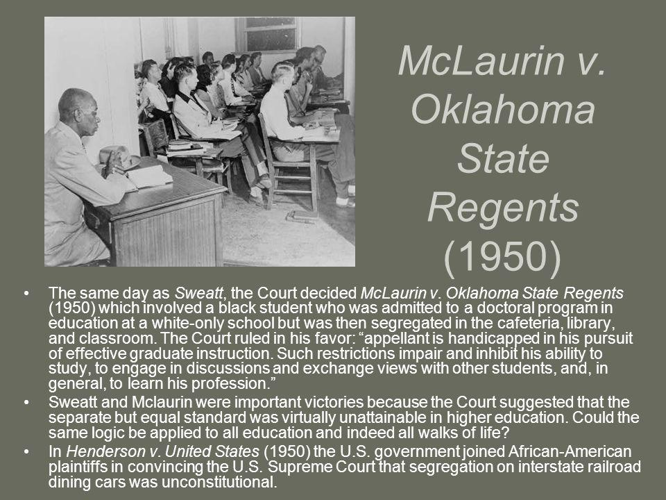 McLaurin v. Oklahoma State Regents (1950)