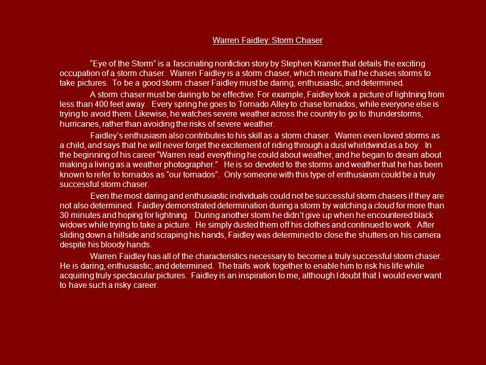 Warren Faidley: Storm Chaser