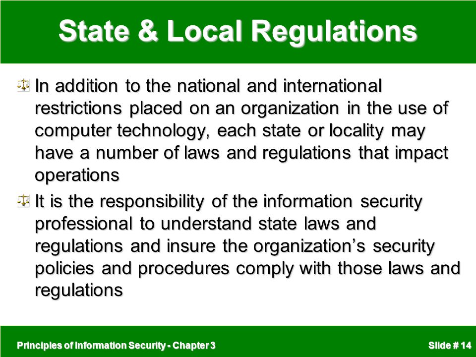 State & Local Regulations