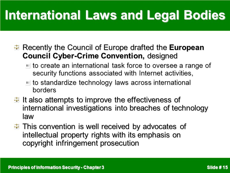 International Laws and Legal Bodies