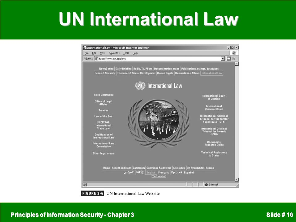 UN International Law Principles of Information Security - Chapter 3