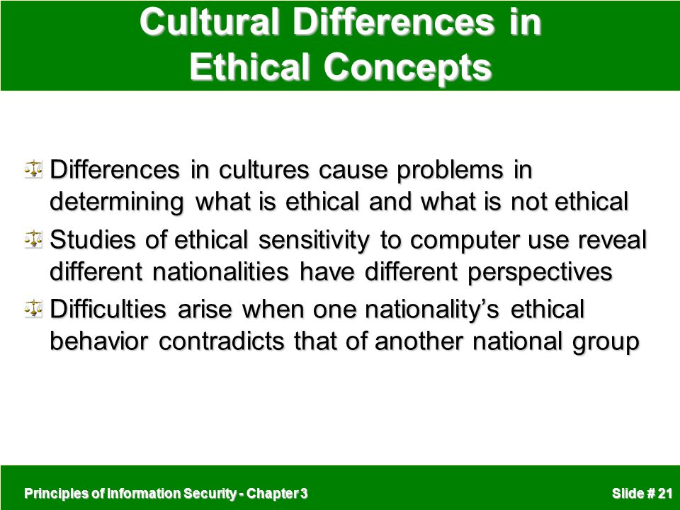 Cultural Differences in Ethical Concepts