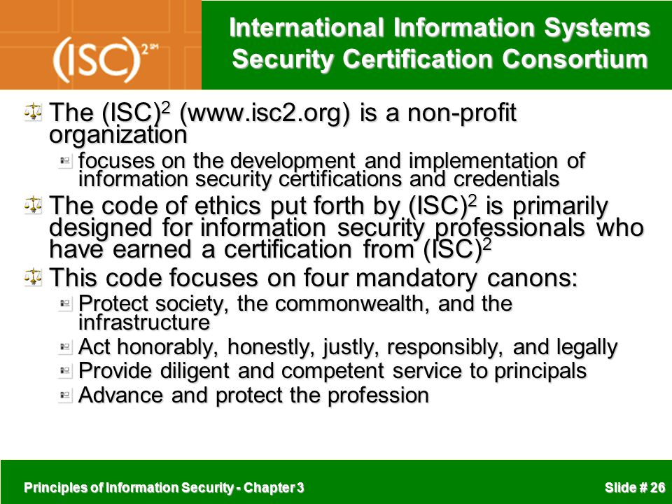 International Information Systems Security Certification Consortium