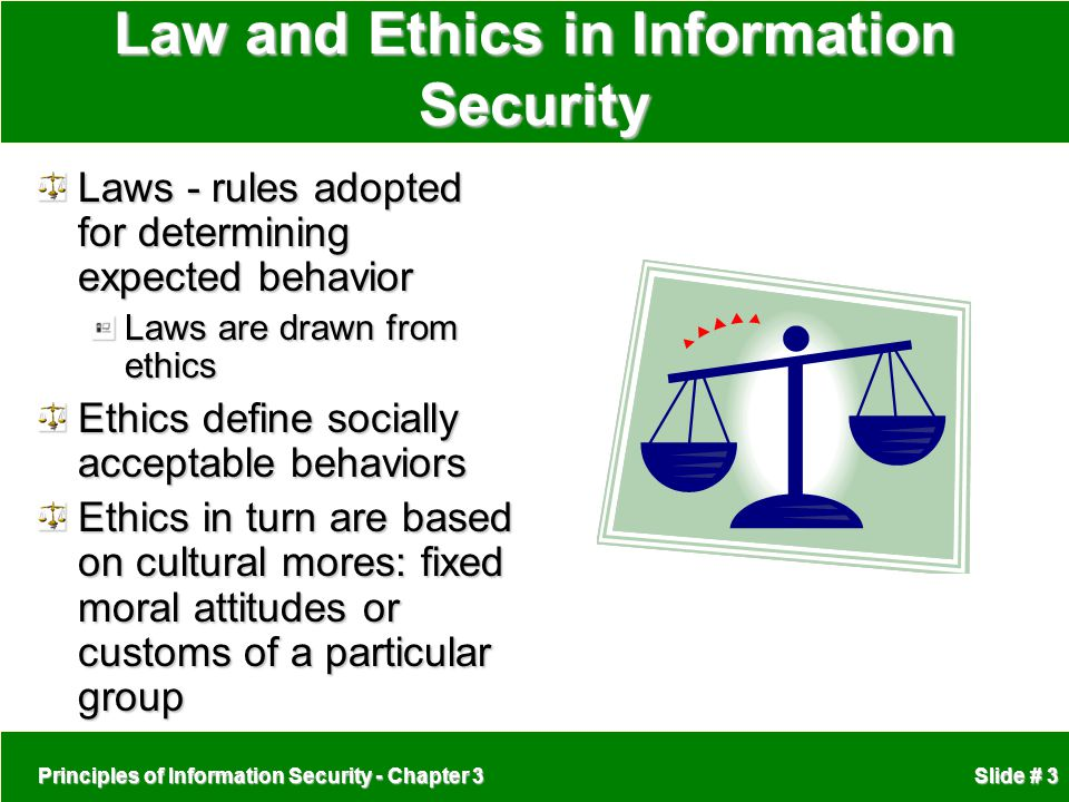 Law and Ethics in Information Security