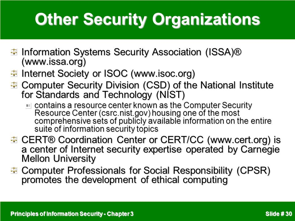 Other Security Organizations