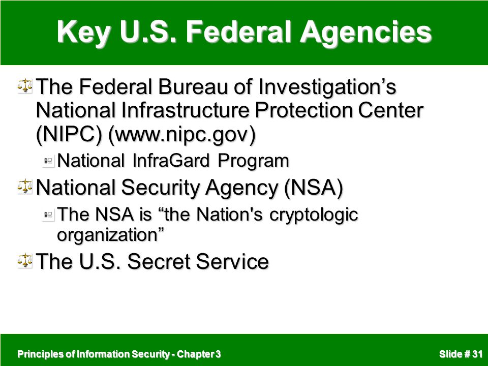 Key U.S. Federal Agencies