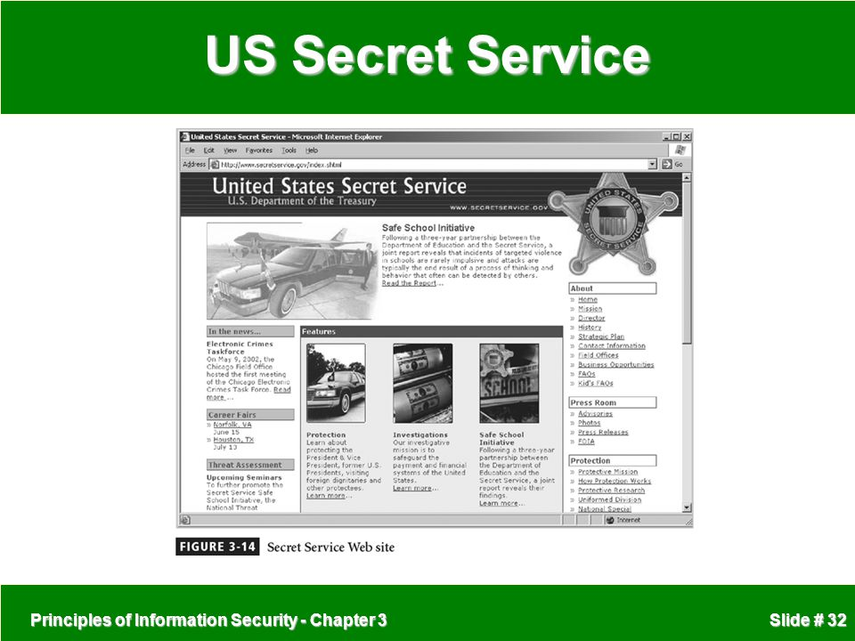 US Secret Service Principles of Information Security - Chapter 3